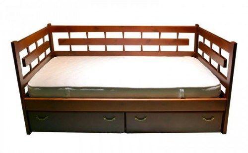 Кровать Сакура с 3-мя спинками из массива