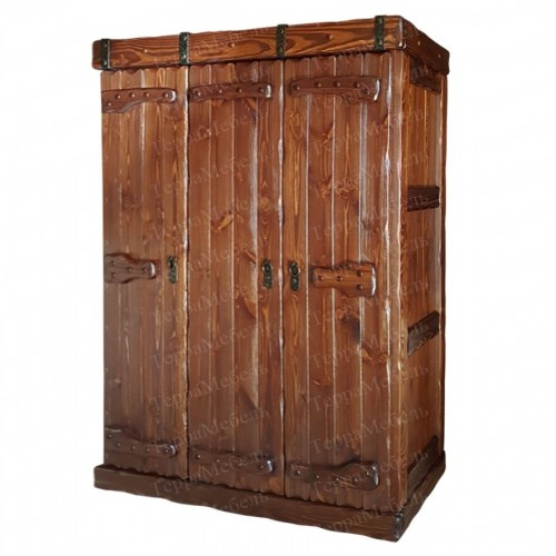Шкаф платяной Добрыня 2 из массива